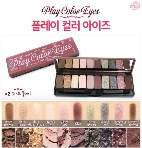 Etude House Play Color Eyes eyeshadow palette 2 swatches