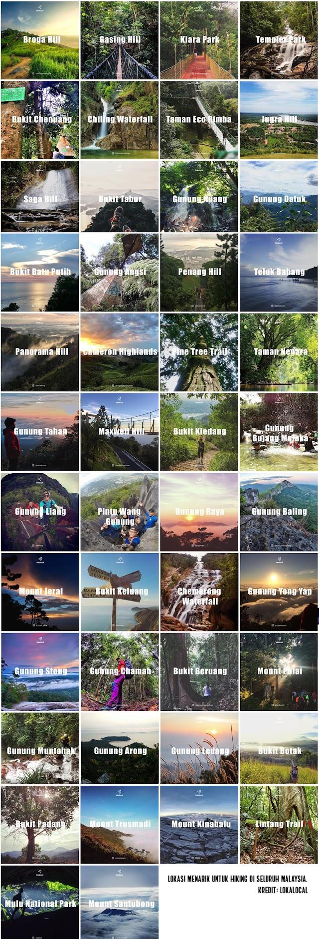 Senarai Bukit Dan Gunung Yang Menarik Untuk Hiking di Malaysia