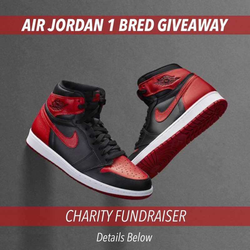 best service 96391 ae17f Air Jordan 1 Banned Charity Raffle  NickEngvall