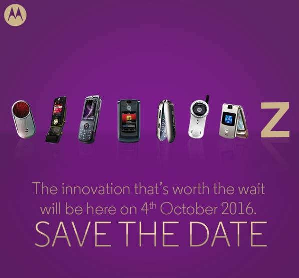 Moto Z India Launch Set for October 4
