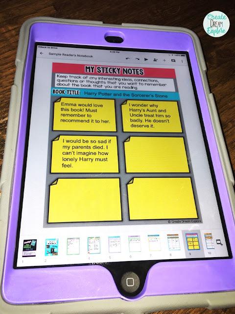digital reader's notebook