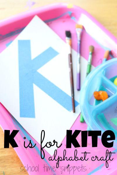 Letter K Preschool Alphabet Craft