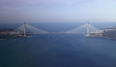 Yavuz sultan selim köprüsü Luxsolar HIOL yüksek yoğunluklu uçak ikaz lambası