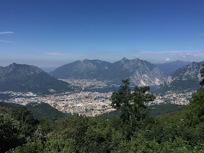 View from Rifugio Stoppani toward Lecco and Como