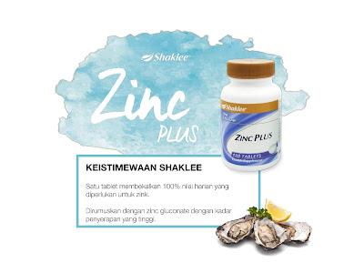 Keistimewaan Zinc Plus Shaklee
