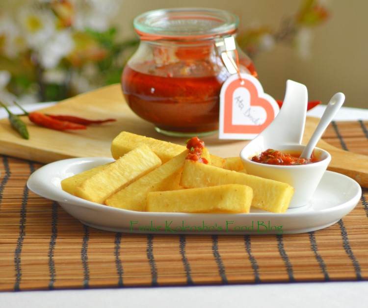 Ata Dindin With Chunky Yam Chips