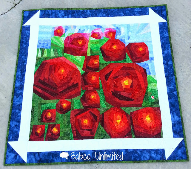 BabcoUnlimited.blogspot.com -- I Looked Out the Window Quilt, Painting the Roses Red Quilt