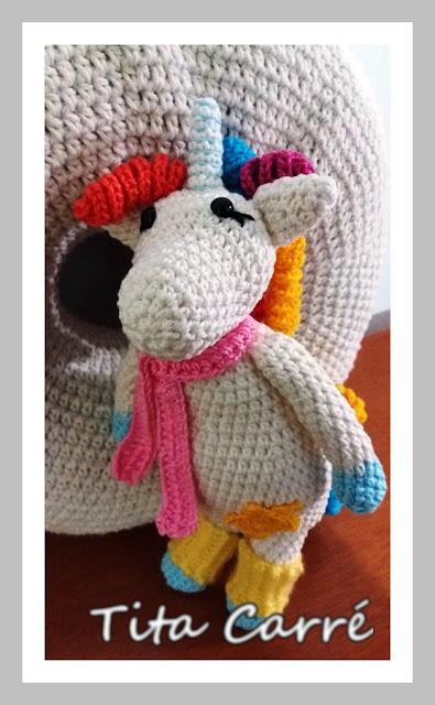 Unicórnio Freddo em crochet