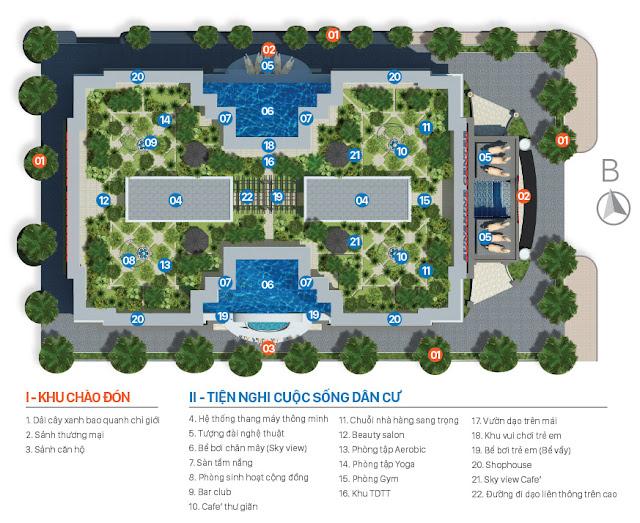 Hệ thống tiện ích chung cư Sunshine Center 16 Phạm Hùng