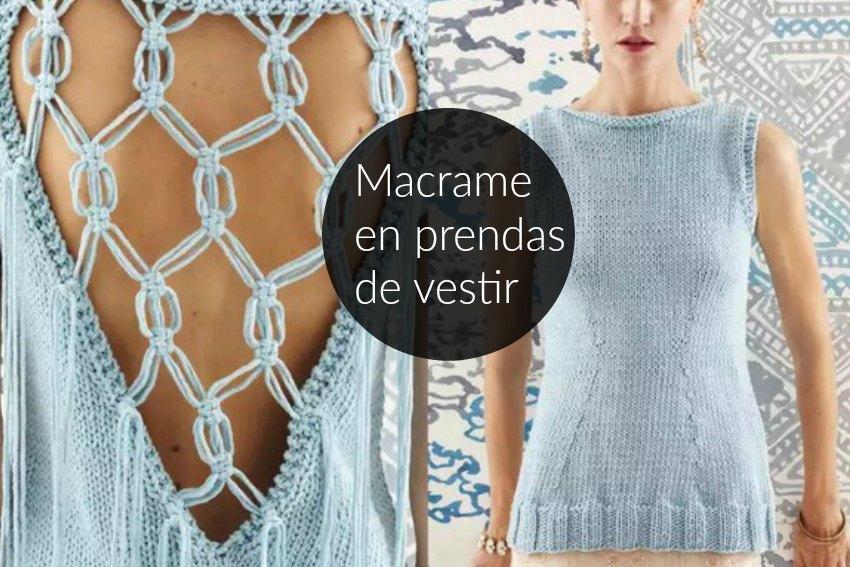 escote de espalada a macrame, transformar prendas con macrame