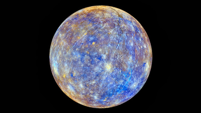 Photograph of planet Mercury taken by NASA spacecraft MESSENGER