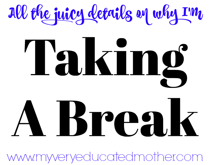 Why I'm Taking a Break From Blogging