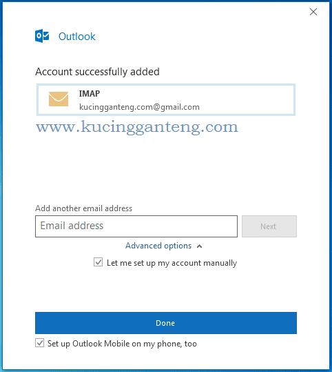 Tutorial Cara Setting Gmail Di Microsoft Outlook 2016 Kucing Ganteng Blog Tutorial Komputer Terlengkap