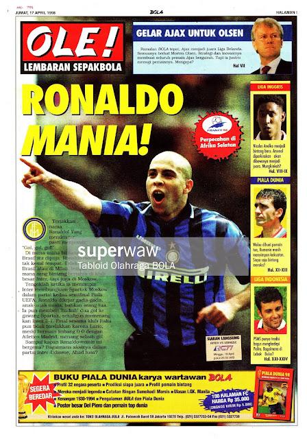 RONALDO NAZARIO DA LIMA INTER MILAN 1998