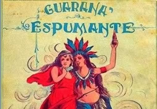 Propaganda do Guaraná Espumante Lacta nos anos 20.