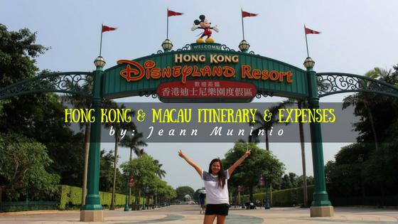 Hong Kong and Macau Itinerary and Expenses