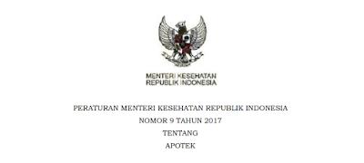 Peraturan Menteri Kesehatan Nomor 9 Tahun 2017 Tentang Apotek