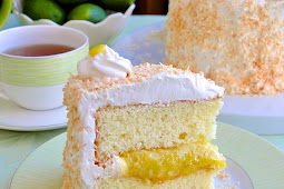 Coconut Lime Marshmallow Cake Recipe