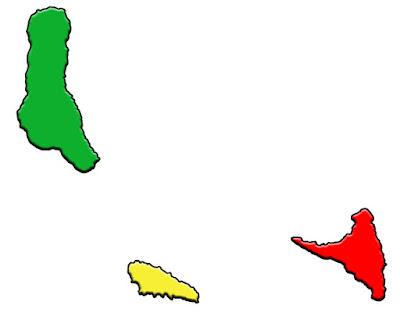 image: Blank Color Comoros Islands Map