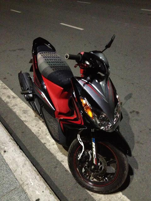 Sơn xe Luvias GTX màu xám đỏ đen cực đẹp