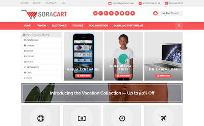 Sora Cart Blogger Template Premium Version