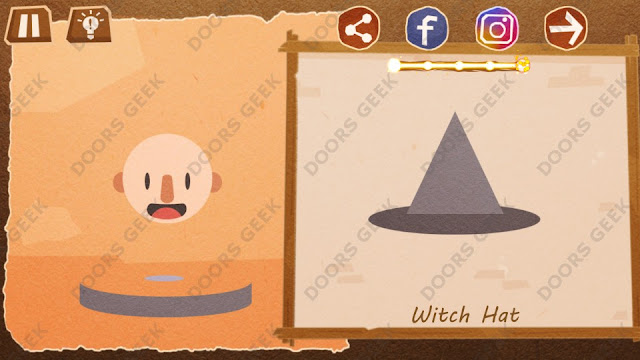 Chigiri: Paper Puzzle Novice Level 8 (Witch Hat) Solution, Walkthrough, Cheats