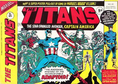 Marvel UK, The Titans #22, Captain America