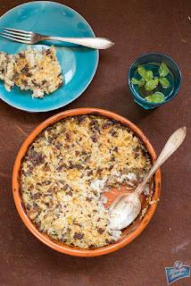 Zapiekanka z kapusty i ryżu