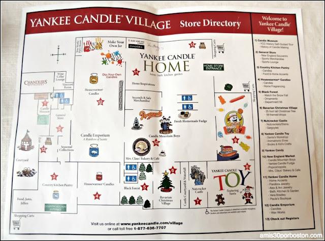 Mapa de la Yankee Candle Village