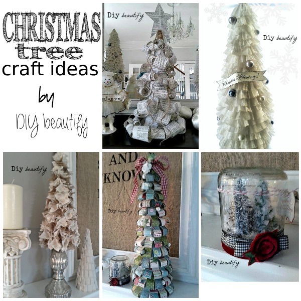DIY Christmas trees by www.diybeautify.com