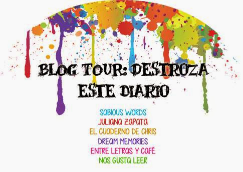 Blog tour. Destroza este diario.