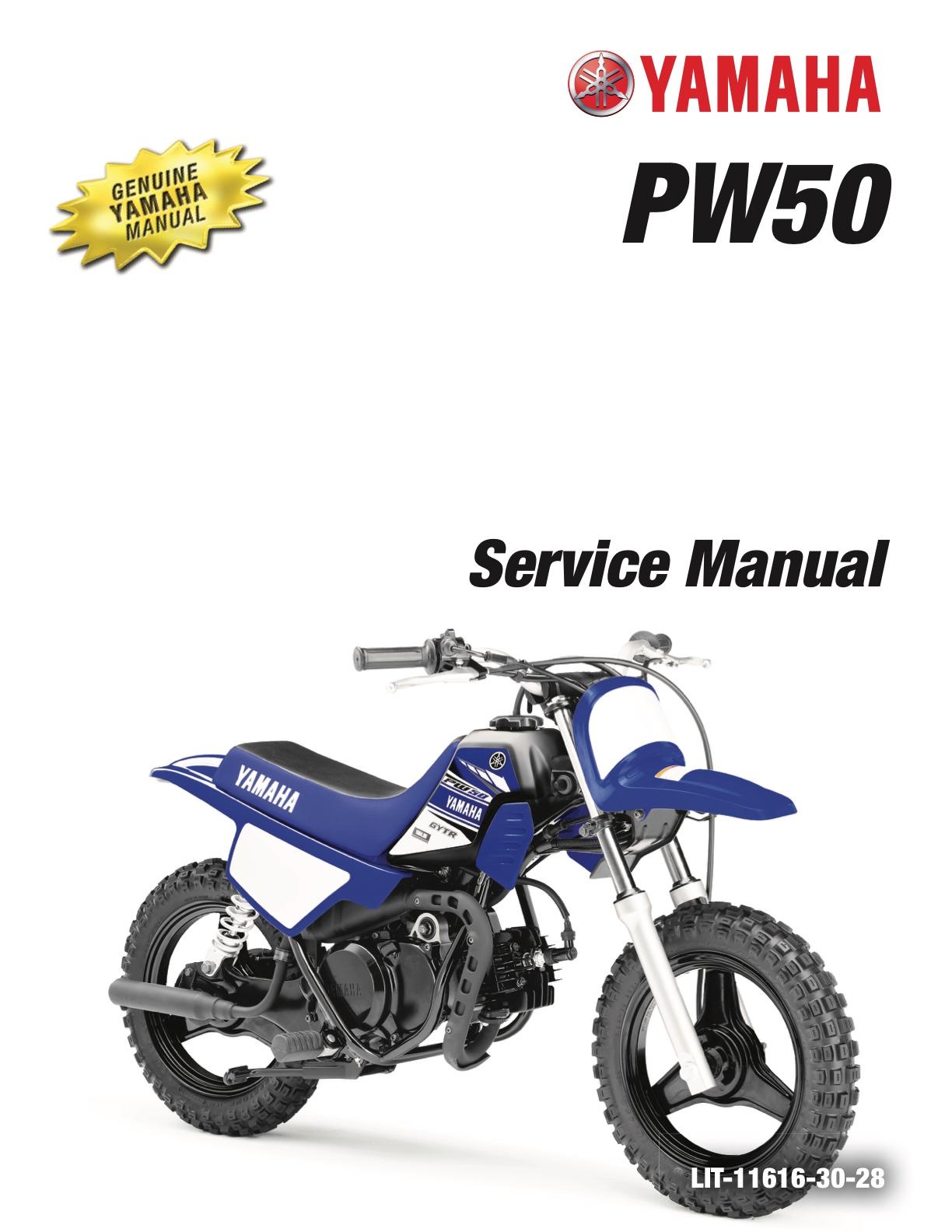 yamaha 2017 2018 pw50 pw50h2 pee wee 50 service manual rh yamaha manuals cc Yamaha Motorcycle Rims Yamaha PW50 Parts