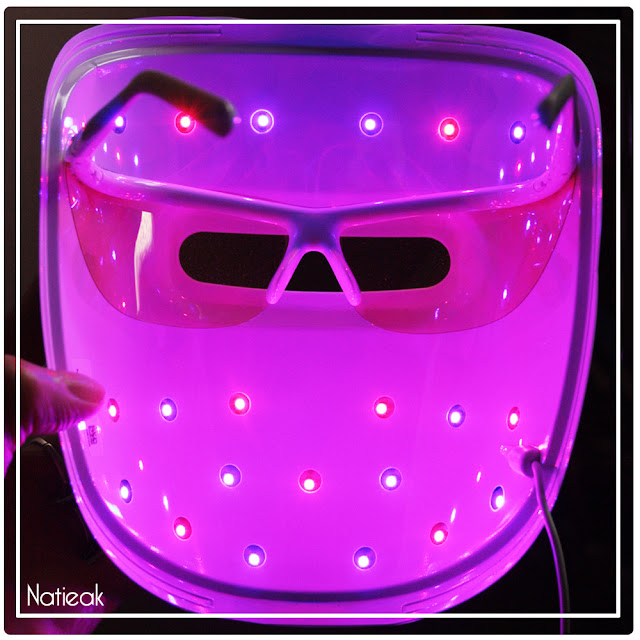 interieur du masque de luminothérapie de Neutrogena