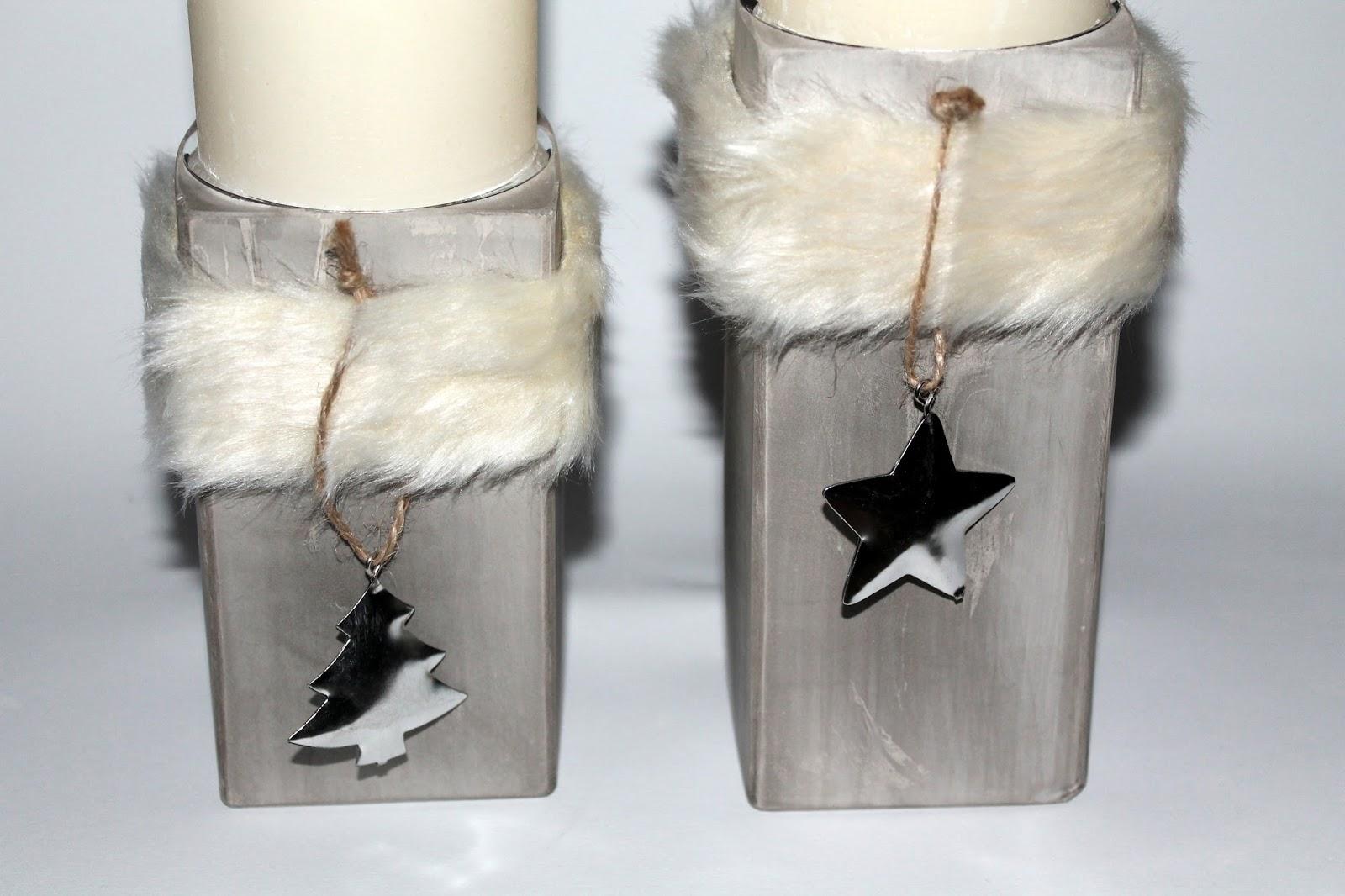 DIY, Basteln: Gips / Beton Kerzenständer als Wohndekoration Weihnachten - DIYCarinchen