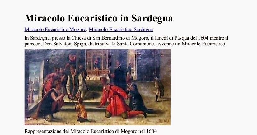 Il mio amico ges miracolo eucaristico in sardegna - Divo barsotti meditazioni ...