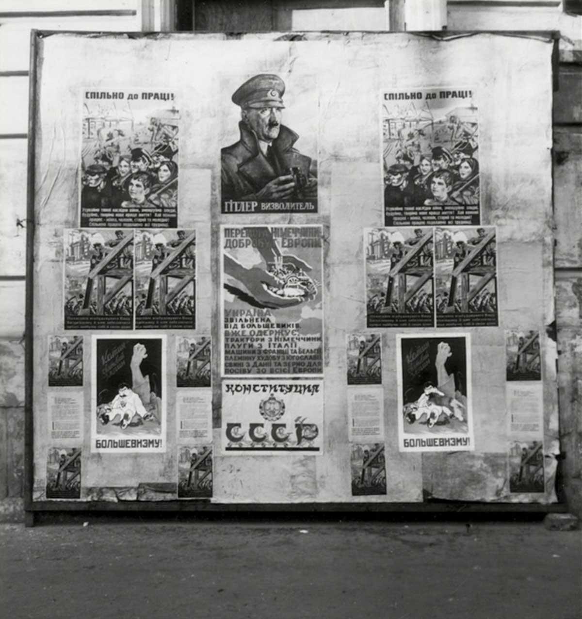 Nazi propaganda posters.