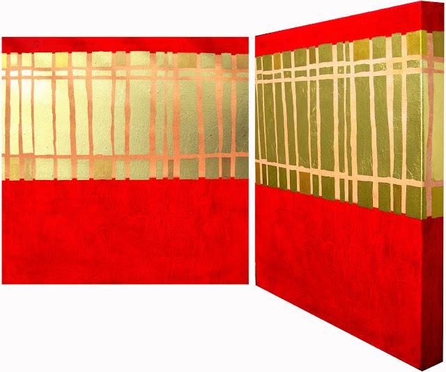 Acryl und Blattgold auf Leinwand, Dagmar  Mahlstedt
