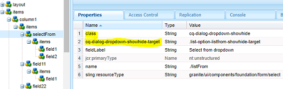 AEM Cases: Touch UI - Hide/Show Fields in the dialog in AEM