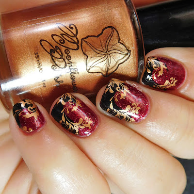 moonflower-polish-bronze-lina-nail-art-twirls-swirls-stamping