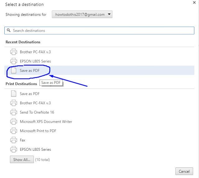 Save a Webpage as PDF