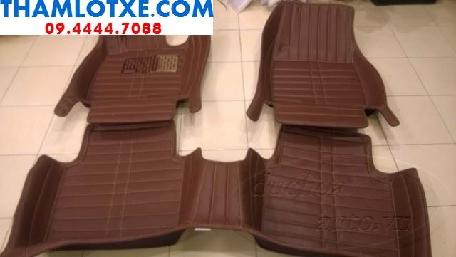 thảm lót xe hơi 4d màu nâu thamlotxe.com