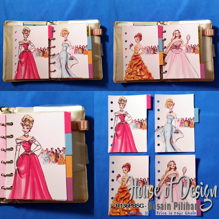 PEMBATAS BINDER SAMPING 6 RING UKURAN MINI KARTUN PRINCESS DISNEY CUSTOM MURAH