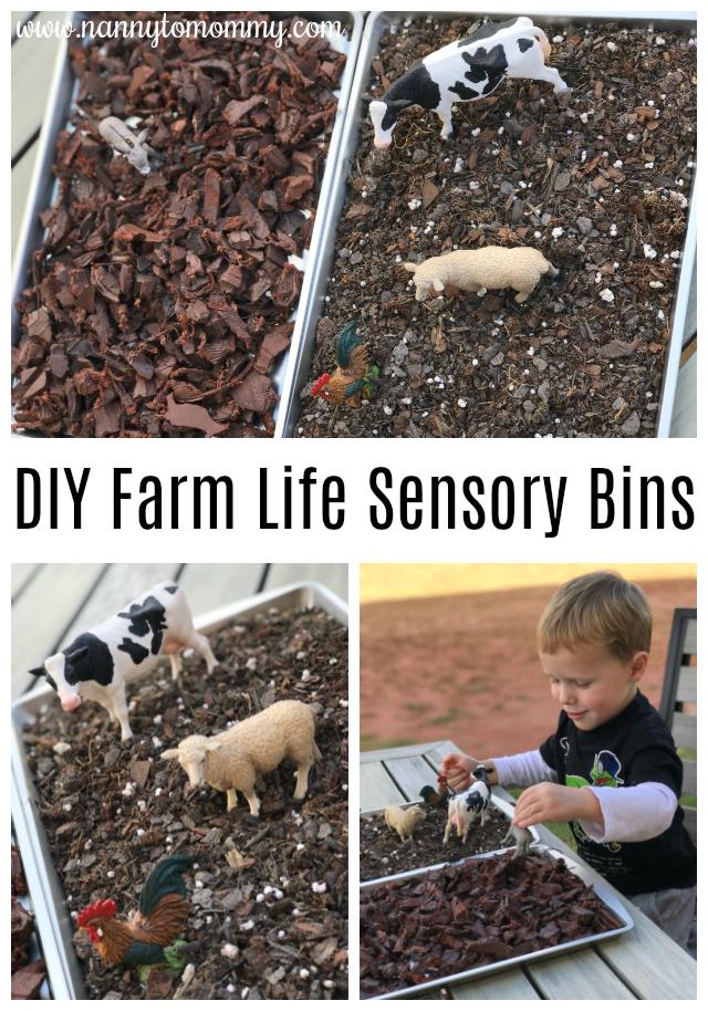 DIY Farm Life Sensory Bin