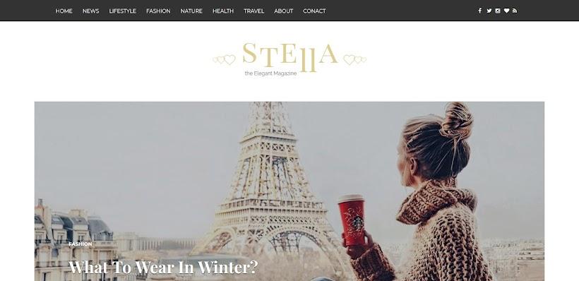 Stella Free Blogger Template