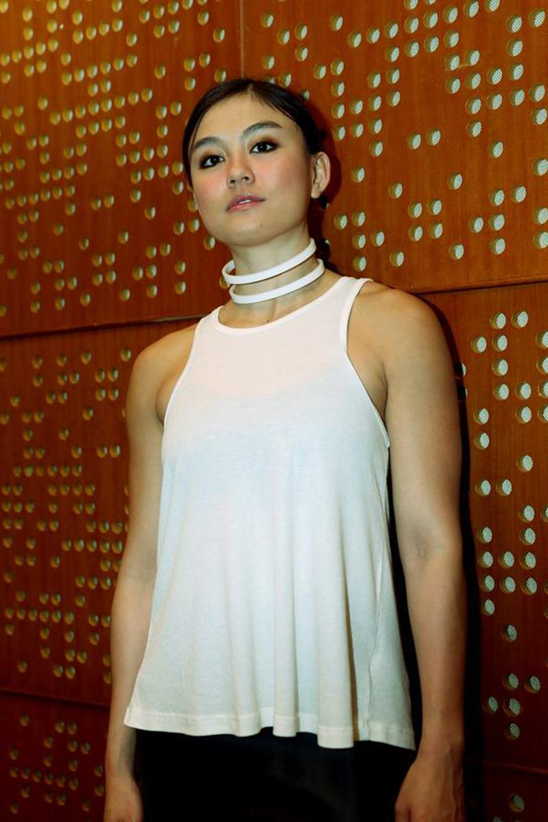 Agnes Monica pakai Tanktop cantik dan manis