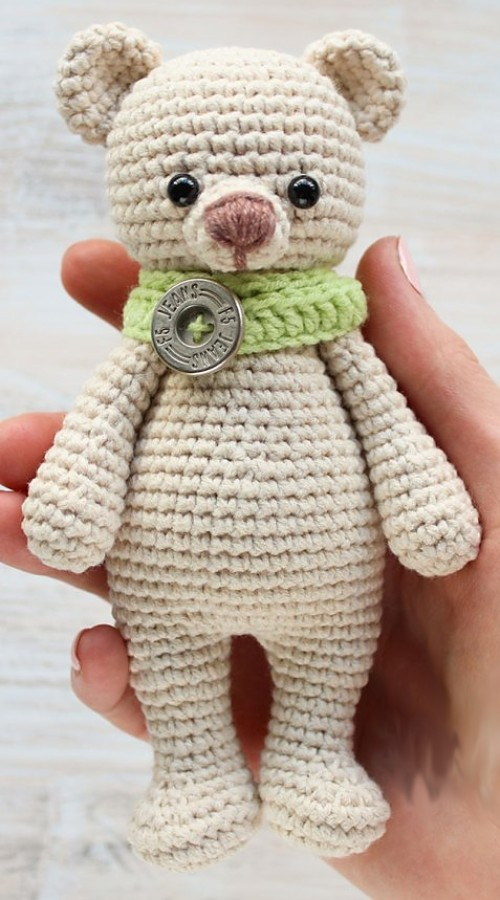 Cuddle me bear amigurumi - Free Pattern
