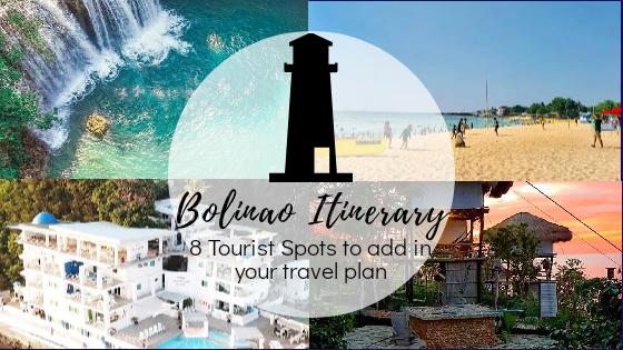 Bolinao Itinerary 2019