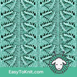 Eyelet Lace 23: Umbrella | Easy to knit #knittingstitches #knittingpatterns