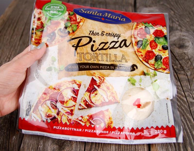 Oppskrift Tacopizza Tortillapizza Santa Maria Pizza Tortilla Bønner Tex Mex Pizzafyll