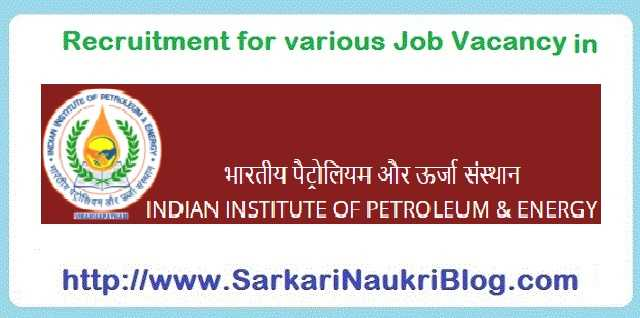 Naukri Vacancy Recruitment IIPE Visakhapatnam